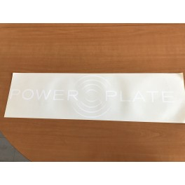Vitrophanie Power Plate (autocollant)